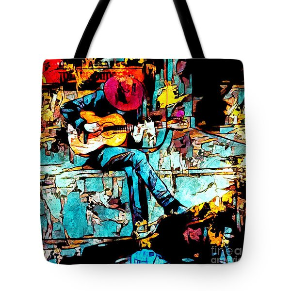 Guitar Man  Tote Bag
