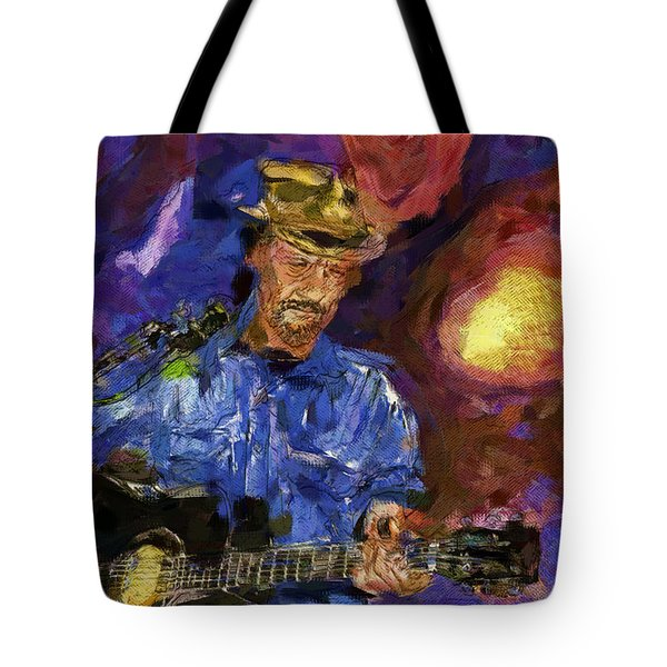Guitar Man Tote Bag by Shirley Stalter