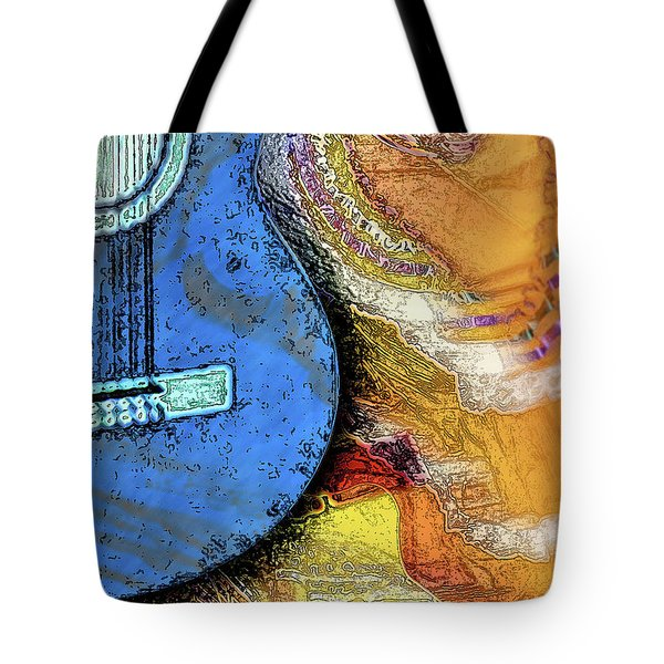 Guitar Music Tote Bag by Allison Ashton