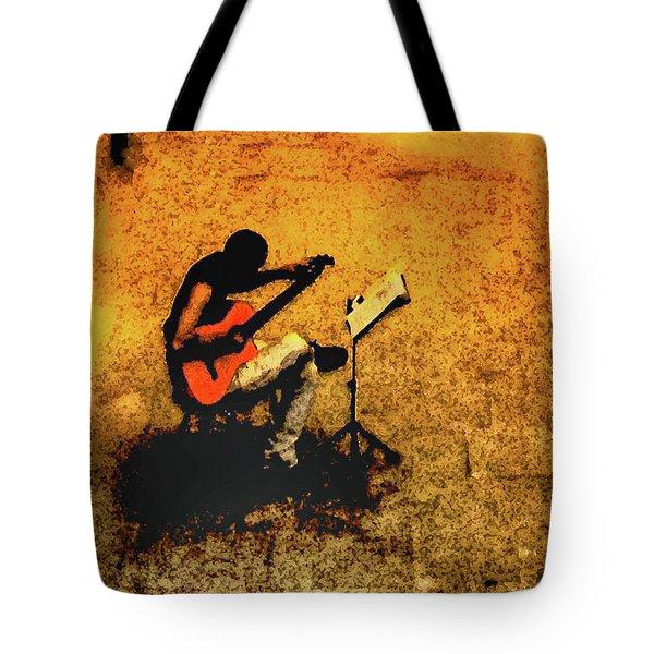 Guitar Player In Arles, France Tote Bag