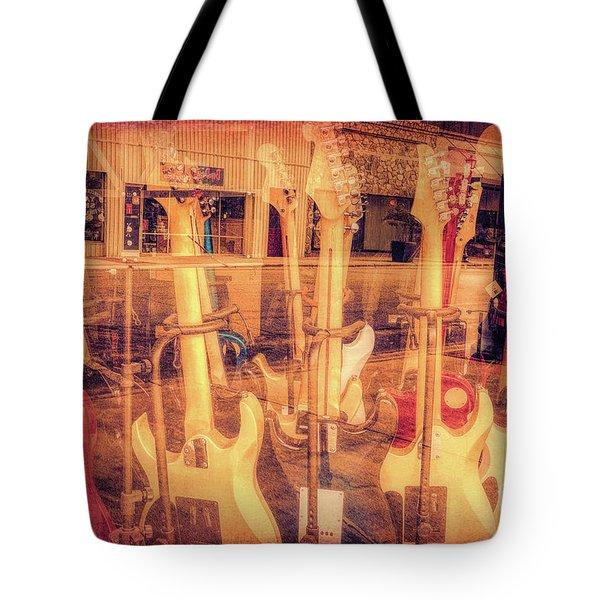 Guitar Reflections Tote Bag