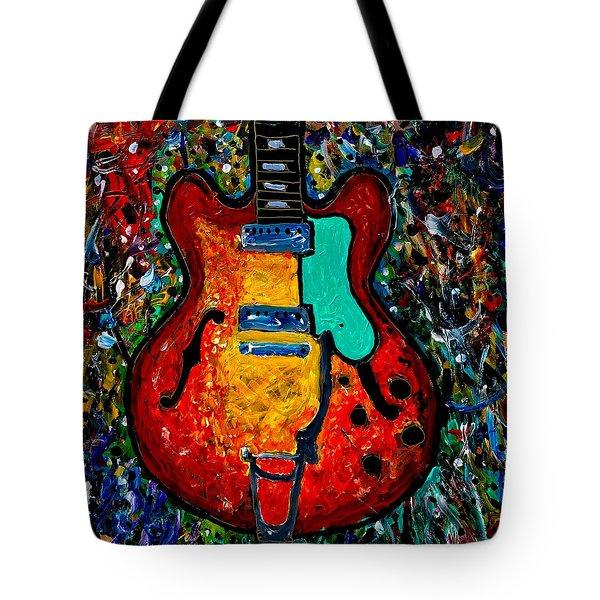Guitar Scene Tote Bag
