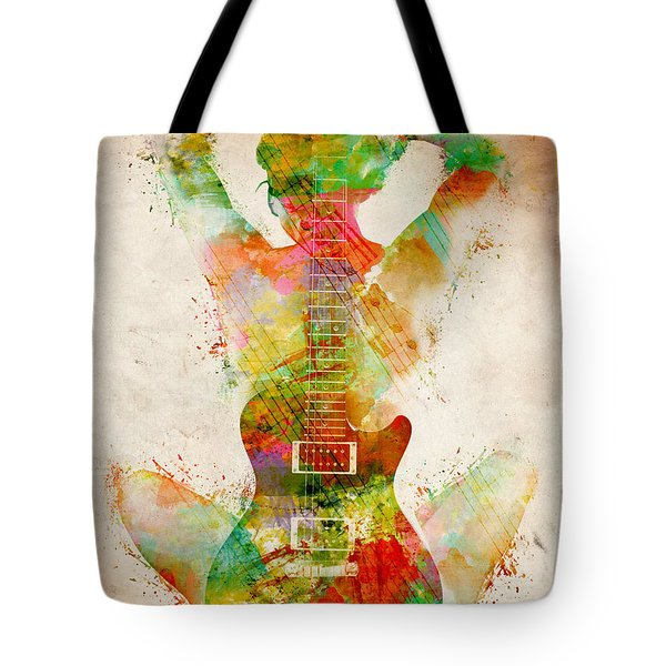 Guitar Siren Tote Bag by Nikki Smith