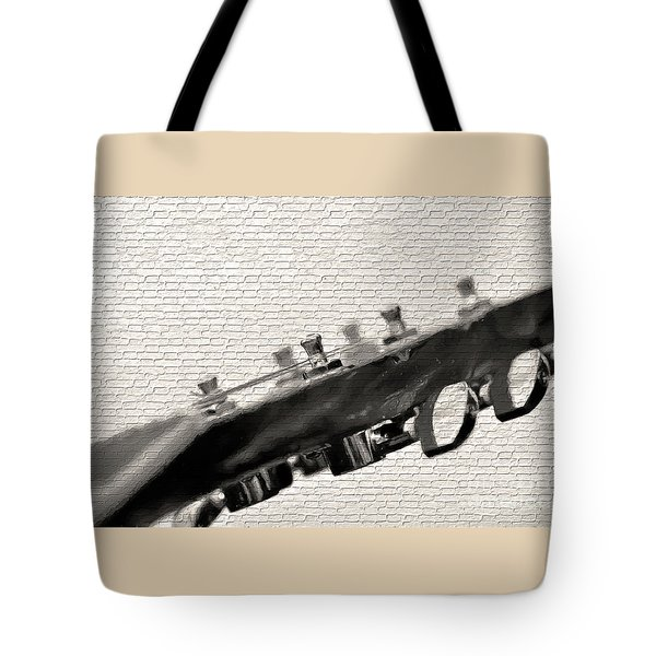 Tote Bag featuring the photograph Guitar Street Art By Kaye Menner by Kaye Menner