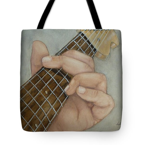Guitar Strumming In 'g' Cord Tote Bag by Kelly Mills
