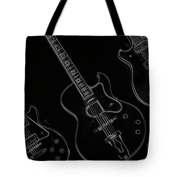 Guitar Trio Tote Bag by Karol Livote