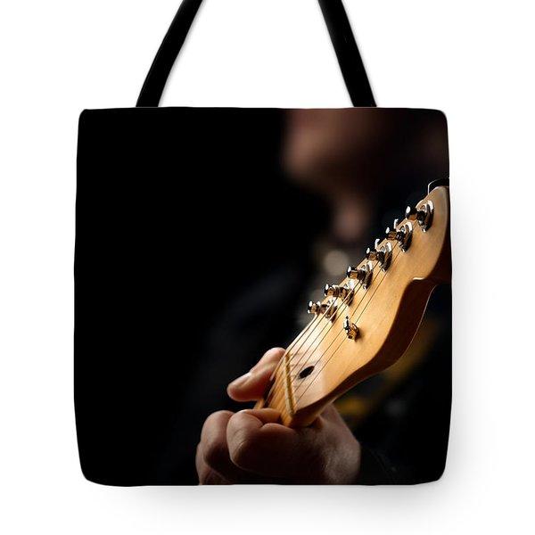 Guitarist Close-up Tote Bag