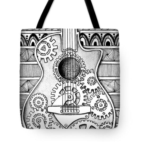 Guitarra No 2 Tote Bag by Delein Padilla
