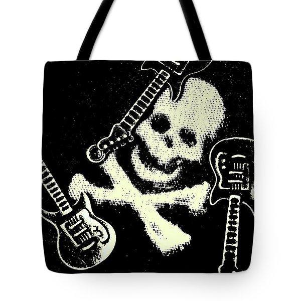 Guitars Of Black Metal Tote Bag