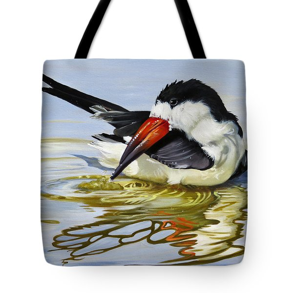 Gulf Coast Black Skimmer Tote Bag by Phyllis Beiser