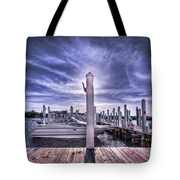 Gulf Coast Blues Tote Bag by Evelina Kremsdorf
