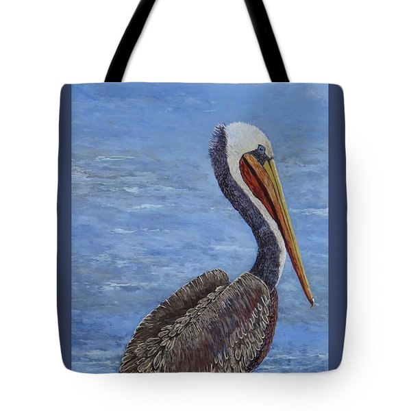 Gulf Coast Brown Pelican Tote Bag