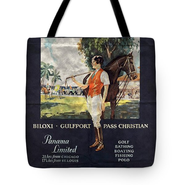 Gulf Coast - Illinois Central - Vintage Poster Folded Tote Bag
