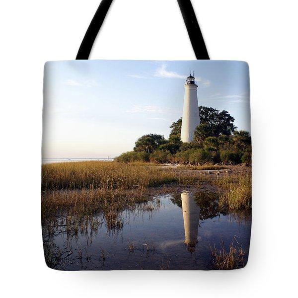 Gulf Coast Lighthouse2  Tote Bag by Marty Koch