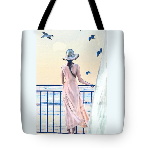 Tote Bag featuring the digital art Gulf Coast Morning by Jane Schnetlage