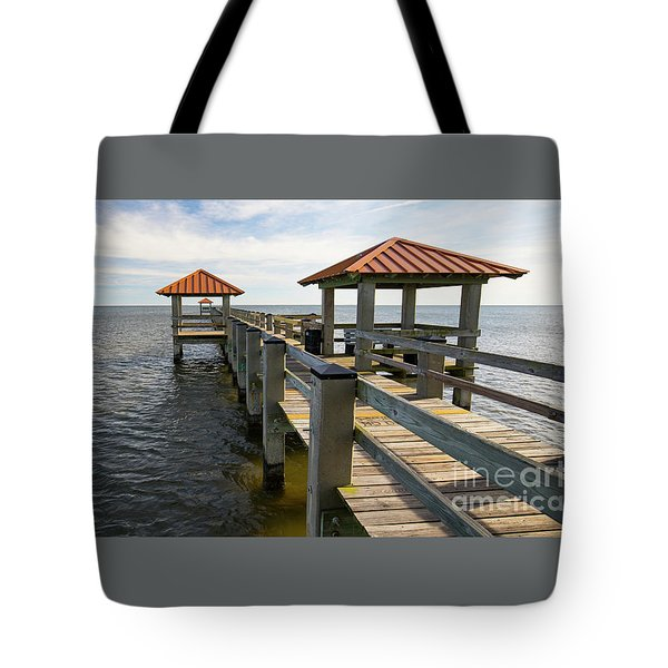 Gulf Coast Pier Tote Bag