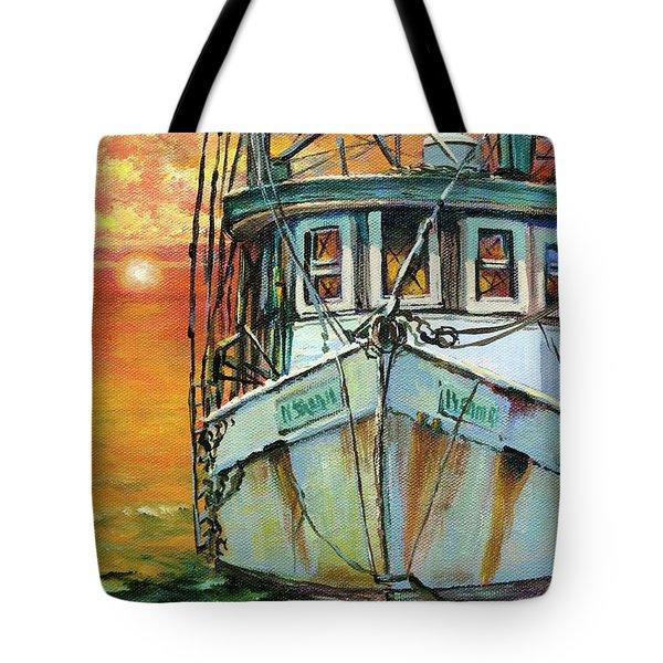 Gulf Coast Shrimper Tote Bag