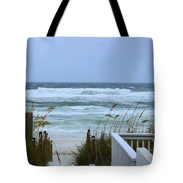 Tote Bag featuring the photograph Gulf Coast Waves by Debra Forand