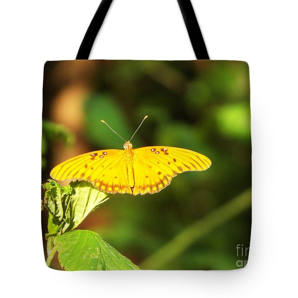 Gulf Fritillary Tote Bag by Audrey Van Tassell