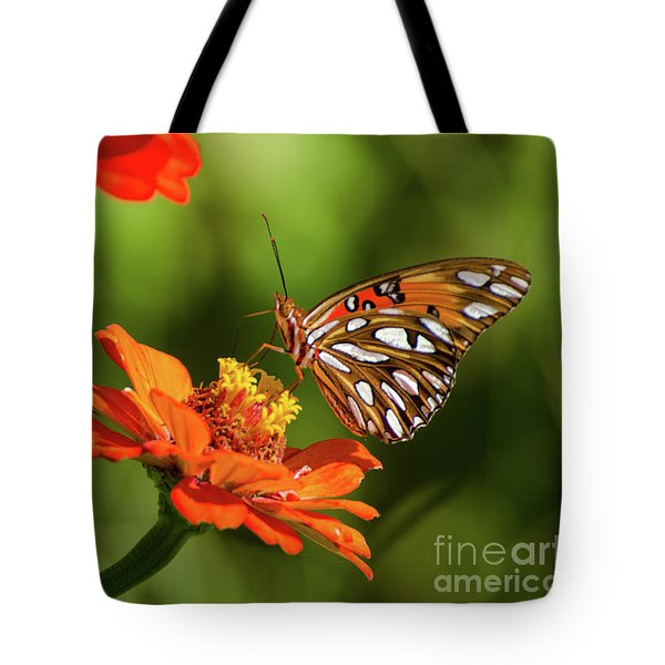 Gulf Fritillary Butterfly Tote Bag