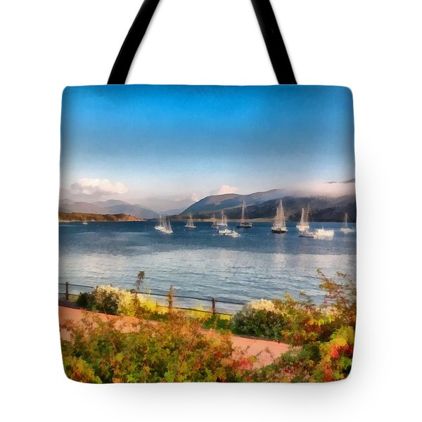 Gulf Of  Ullapool      Tote Bag by Sergey Simanovsky