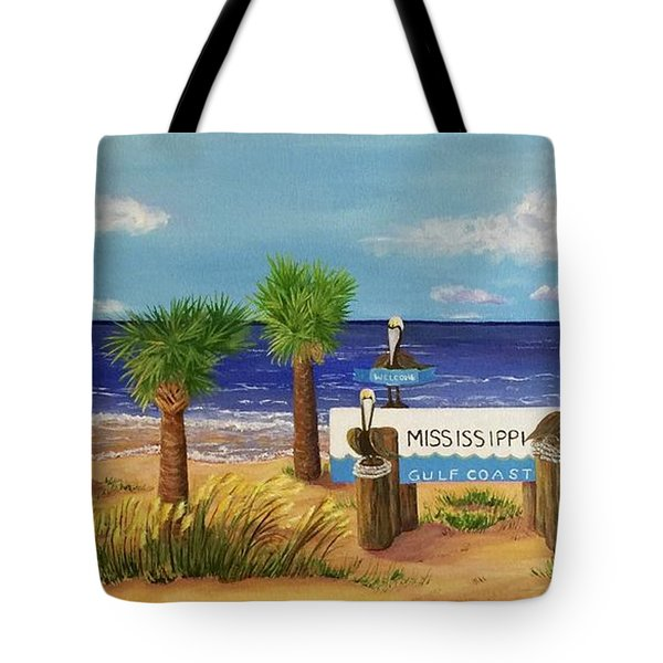 Gulf Shore Welcome Tote Bag