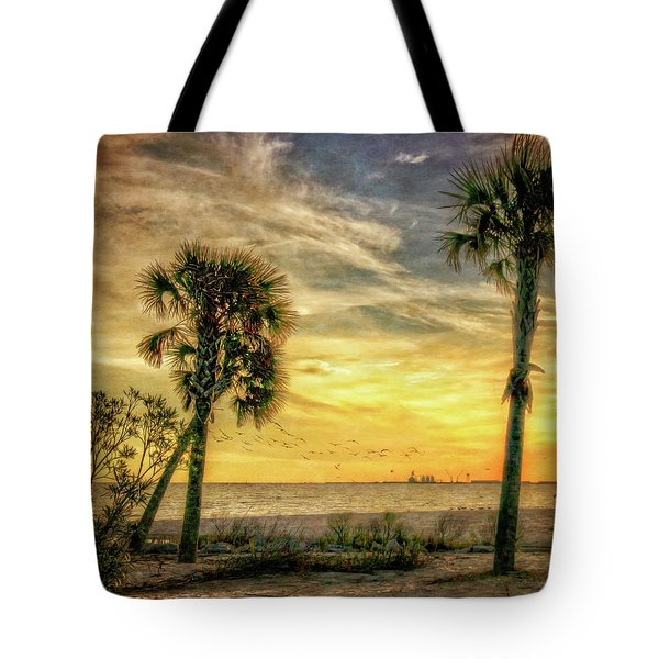 Gulfport Sunset Tote Bag