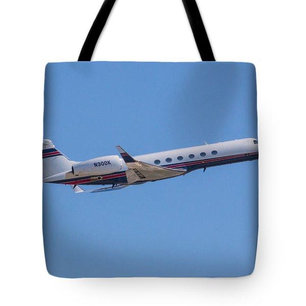 Gulfstream Gv Private Jet Tote Bag