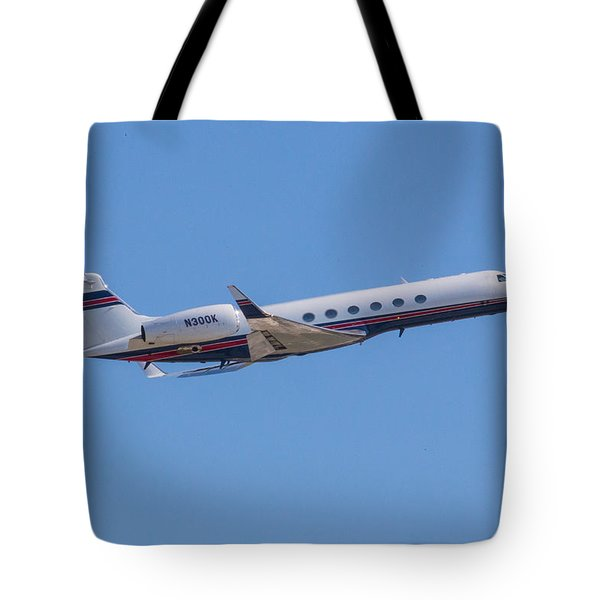 Gulfstream Gv Private Jet Tote Bag
