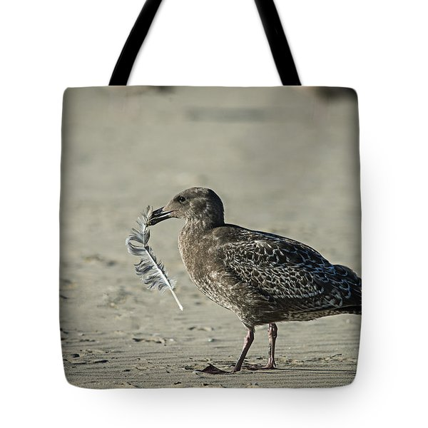 Gull And Feather Tote Bag