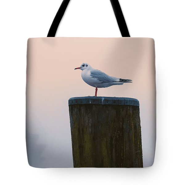 Gull And Fog Tote Bag
