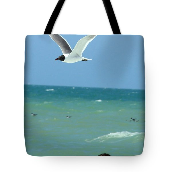 Gull And Girl Tote Bag