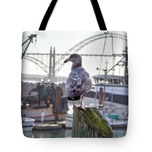 Tote Bag featuring the tapestry - textile Gull by Charlene Bucklin