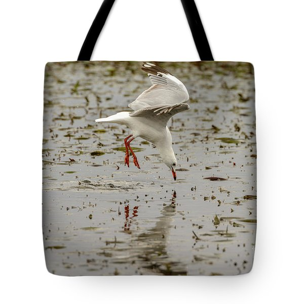 Gull Fishing 01 Tote Bag