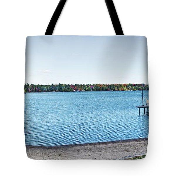 Gull Lake Panorama Tote Bag