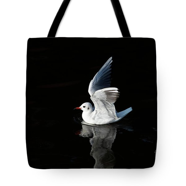 Gull On The Water Tote Bag by Michal Boubin