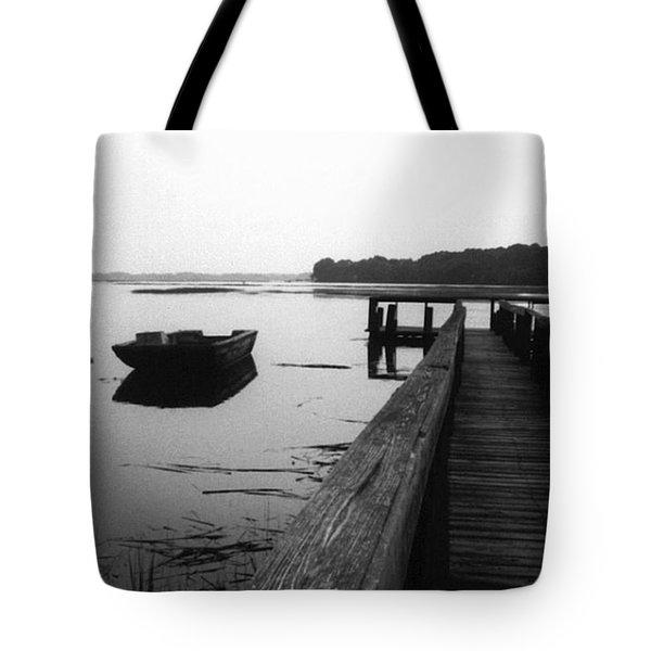 Gullah Coast Bateau Bw Tote Bag