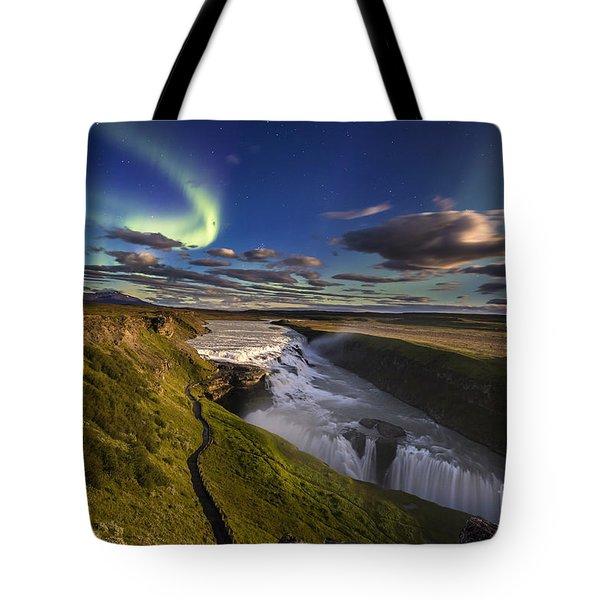Gullfoss Iceland Tote Bag