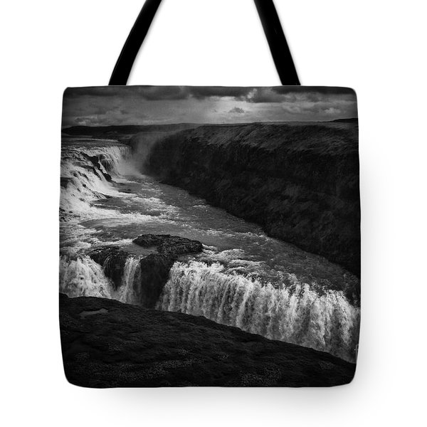 Tote Bag featuring the photograph Gullfoss Waterfall by Nancy Dempsey