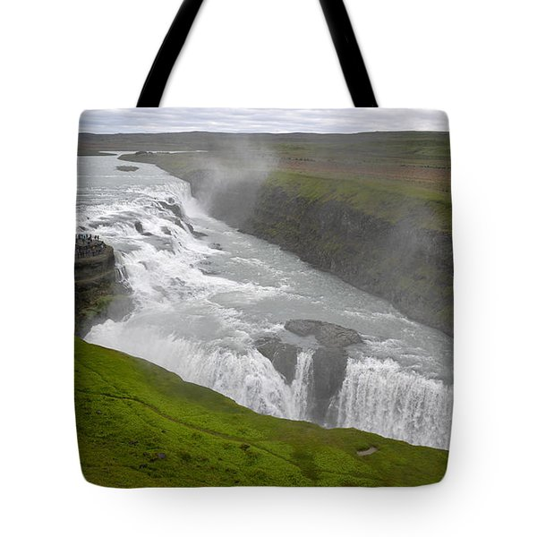 Tote Bag featuring the photograph Gullfoss Waterfall No. 2 by Joe Bonita