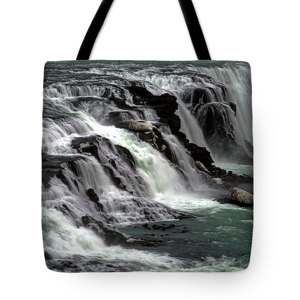 Tote Bag featuring the photograph Gullfoss Waterfalls, Iceland by Dubi Roman
