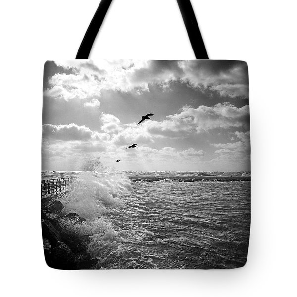 Gulls In A Gale Tote Bag