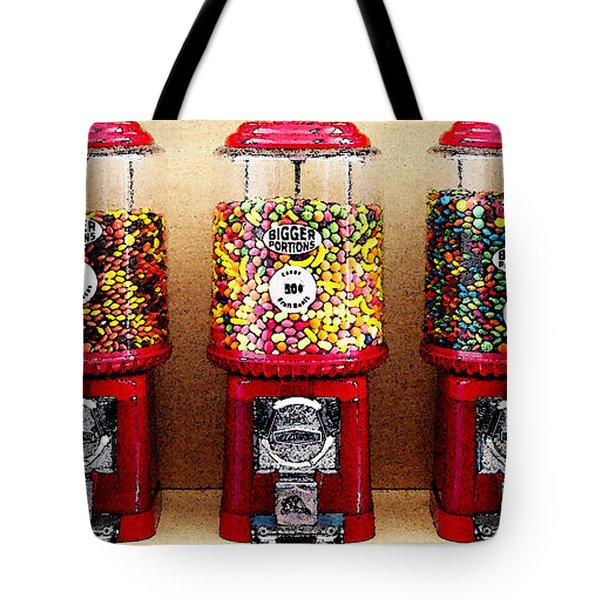 Gumball 5 . Digital Interpretation Tote Bag by Wingsdomain Art and Photography