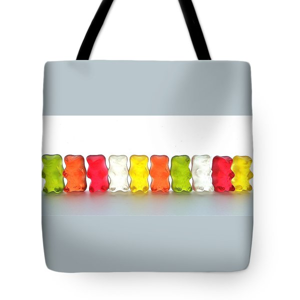 Gummy Bears In A Row Tote Bag