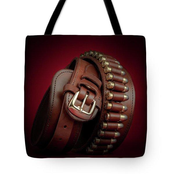 Tote Bag featuring the photograph Gunbelt Bandolier by Tom Mc Nemar