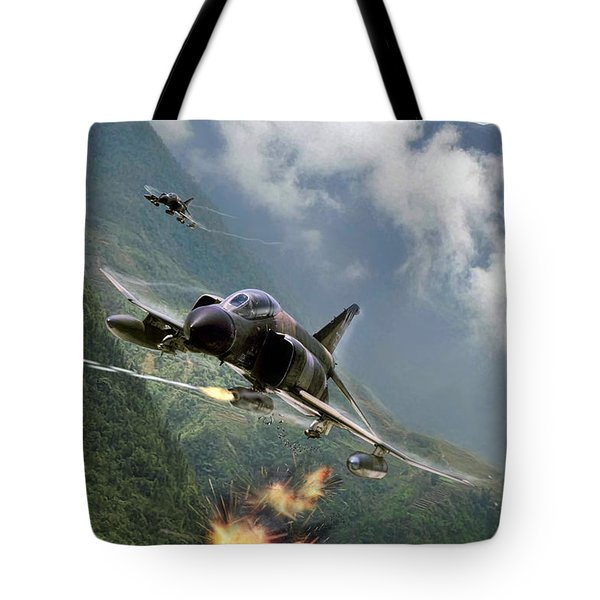 Gunfighters Tote Bag by Peter Chilelli