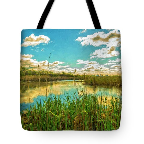 Gunnel Oval By Paint Tote Bag