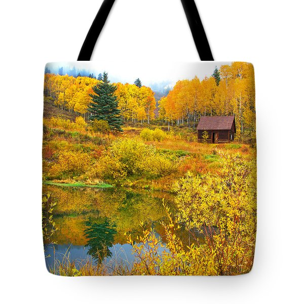 Gunnison Reflection  Tote Bag by Bijan Pirnia
