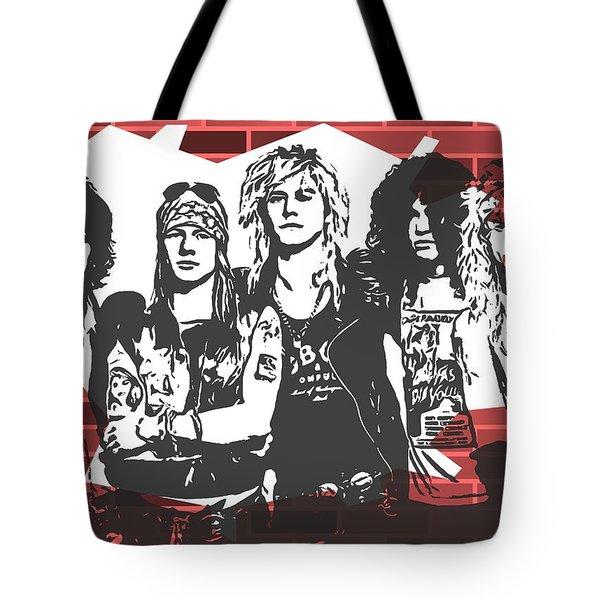 Guns N Roses Graffiti Tribute Tote Bag
