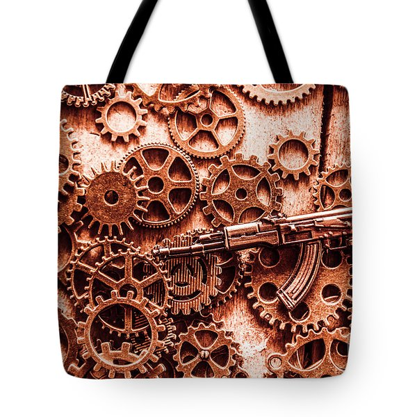 Guns Of Machine Mechanics Tote Bag